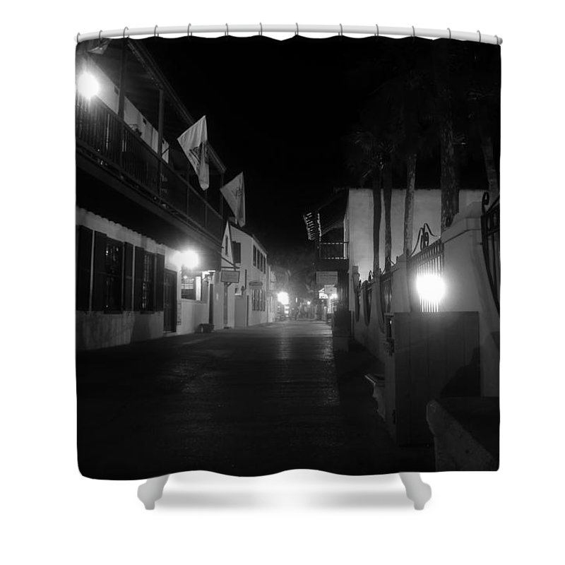 St. Augustine Florida Shower Curtain featuring the photograph St. George street ghosts by David Lee Thompson