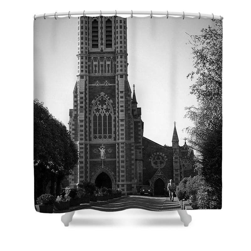Irish Shower Curtain featuring the photograph St. John's Church Tralee Ireland by Teresa Mucha
