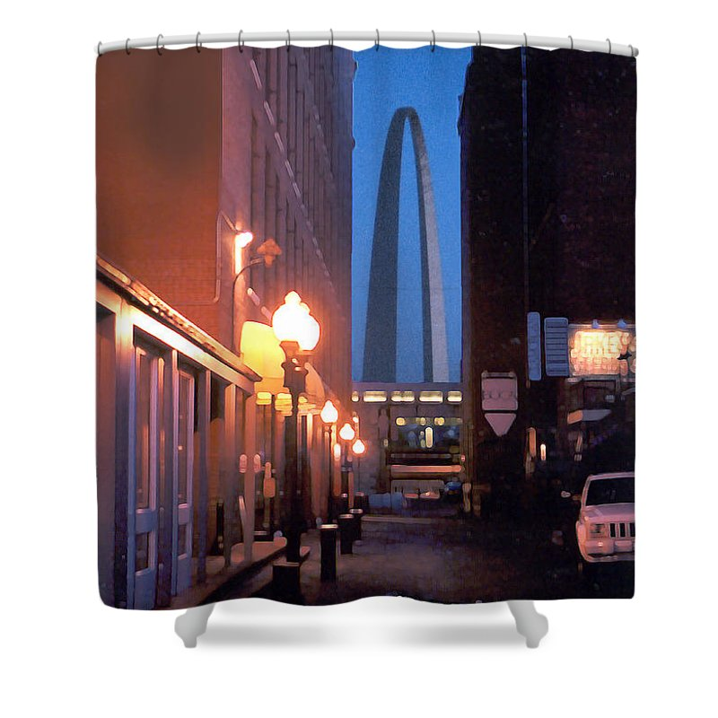 St. Louis Shower Curtain featuring the photograph St. Louis Arch by Steve Karol