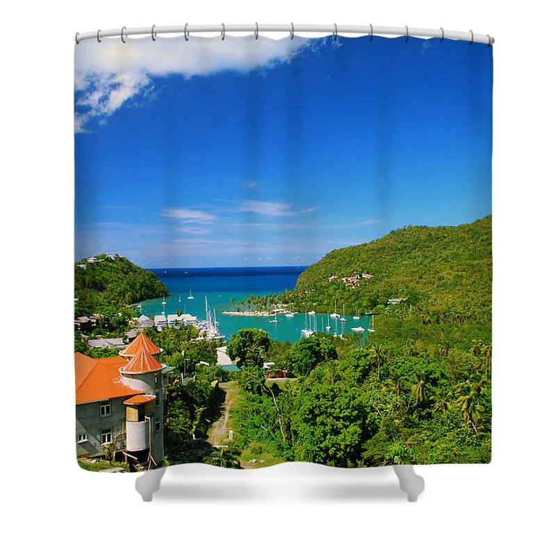 St. Lucia Shower Curtain featuring the photograph St. Lucia by Gary Wonning