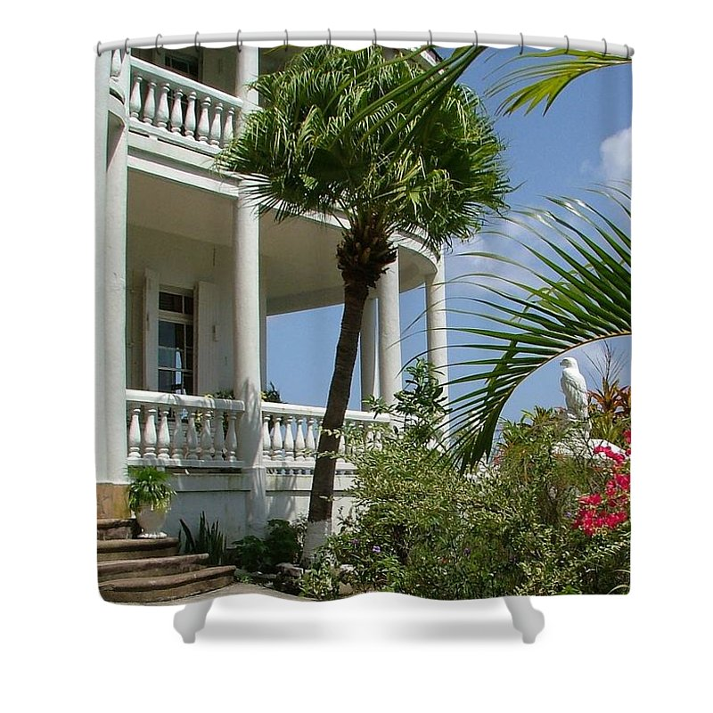 St Lucia Shower Curtain featuring the photograph St Lucia Overlook by Neil Zimmerman