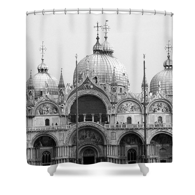 St. Marks Shower Curtain featuring the photograph St. Marks by Donna Corless