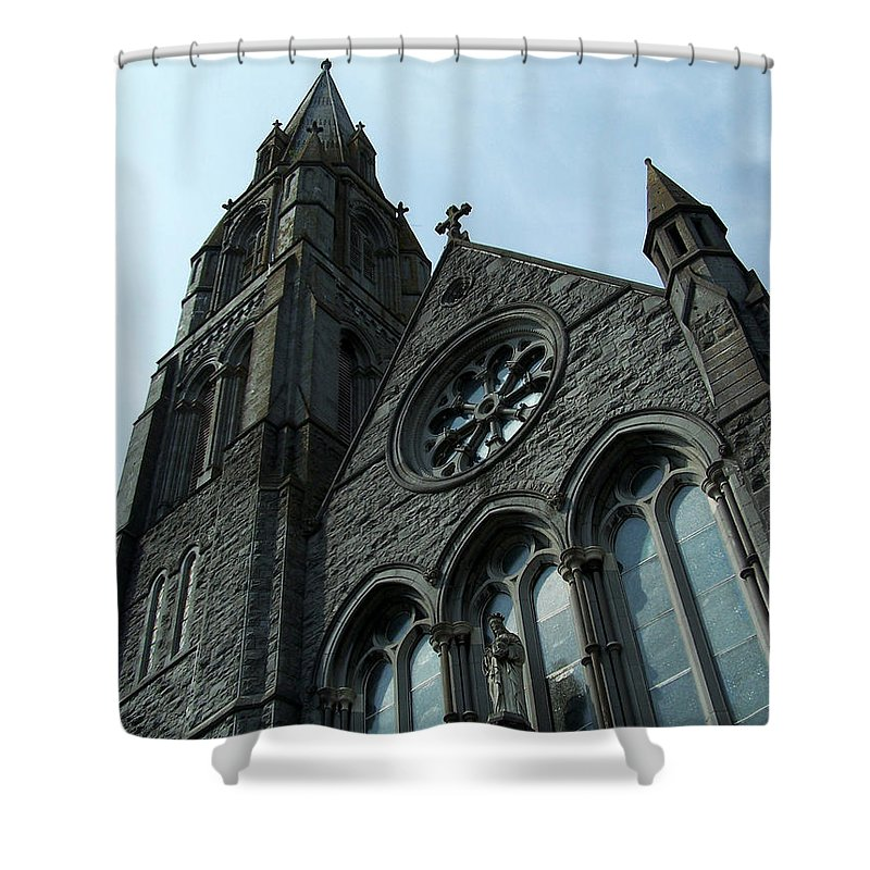 Ireland Shower Curtain featuring the photograph St. Mary's Of The Rosary Catholic Church by Teresa Mucha
