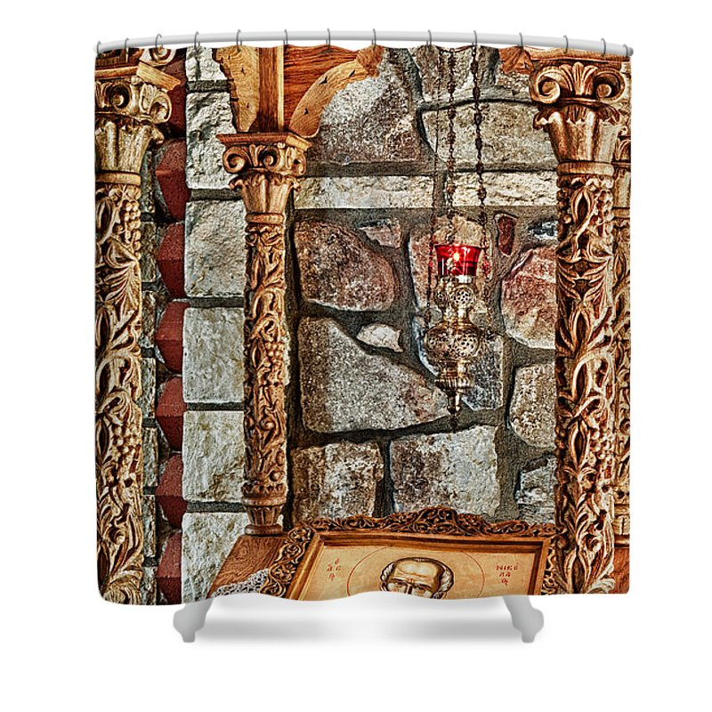 Florence Shower Curtain featuring the photograph St. Nicholas Chapel Iv by Matt Suess