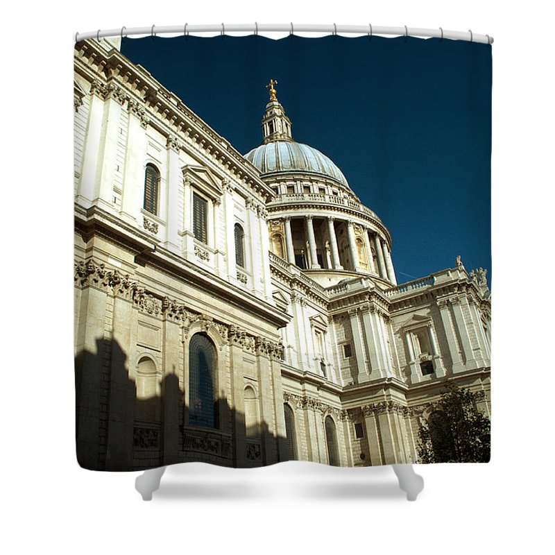St Pauls Shower Curtain featuring the photograph St Pauls Cathedral London 2 by Chris Day