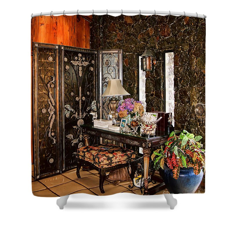 The Historic St. Peter Great House Shower Curtain featuring the photograph St. Peter Great House by Olga Hamilton