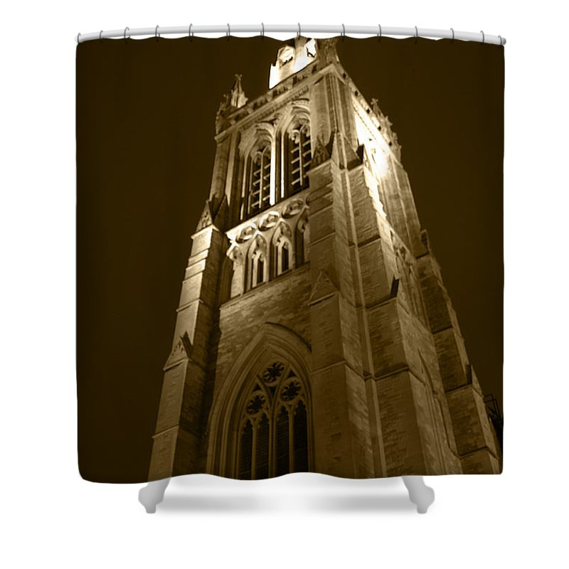 St Peter Shower Curtain featuring the photograph St Peter's Church Bournemouth by Chris Day