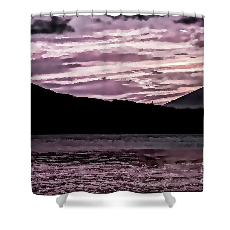 St Thomas Shower Curtain featuring the photograph St Thomas - Sunset 2 by Stefan H Unger