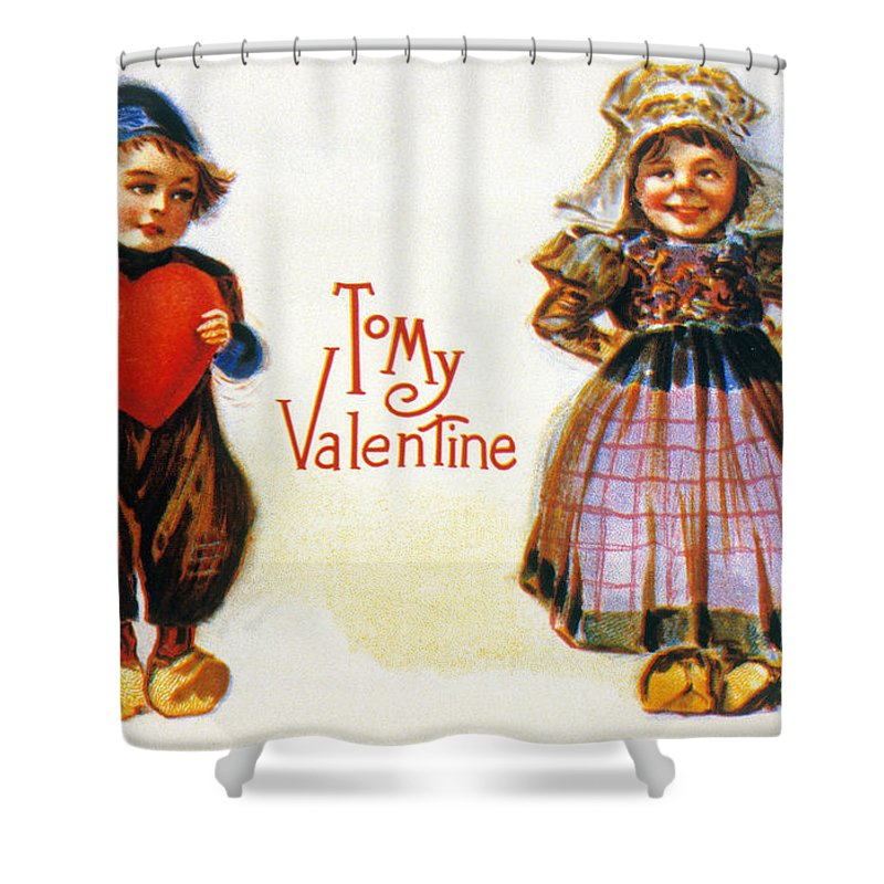 1900 Shower Curtain featuring the photograph St. Valentines Day Card by Granger