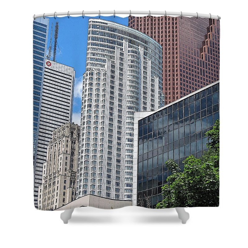 Toronto Shower Curtain featuring the photograph Stacked Cubes by Ian MacDonald