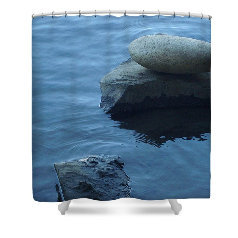 Water Shower Curtain featuring the photograph Stacked by LKB Art and Photography