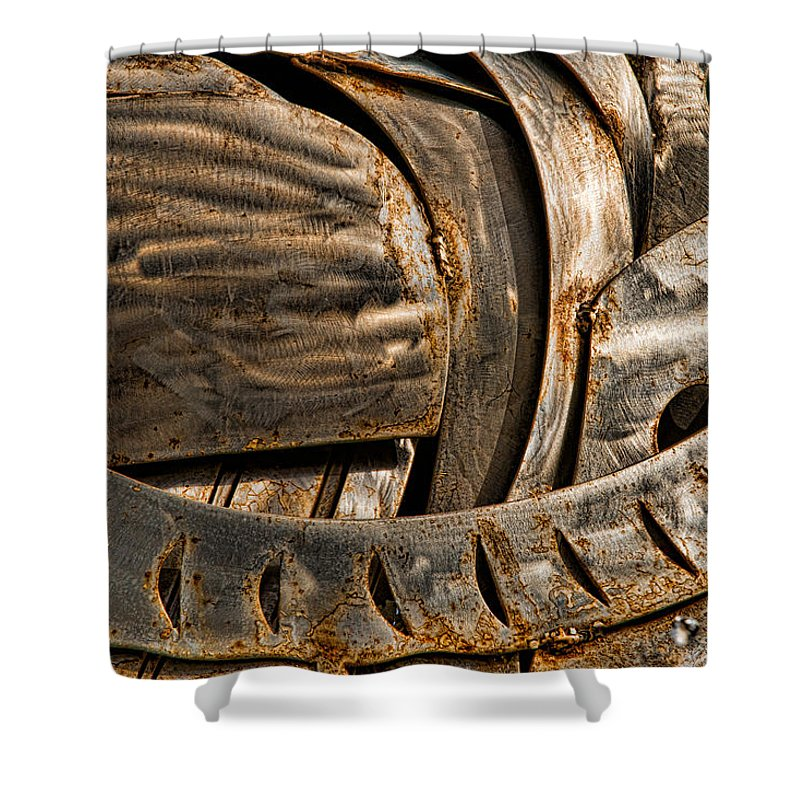 Stainless Shower Curtain featuring the photograph Stainless Abstract IIi by Christopher Holmes