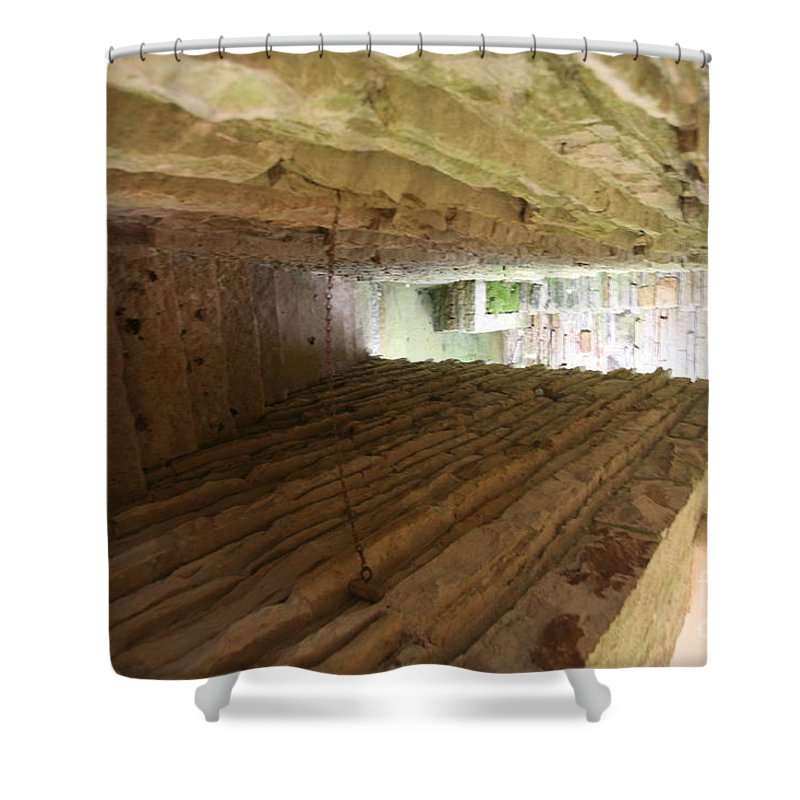 Falling Water Shower Curtain featuring the photograph Stair Fallingwater by Chuck Kuhn