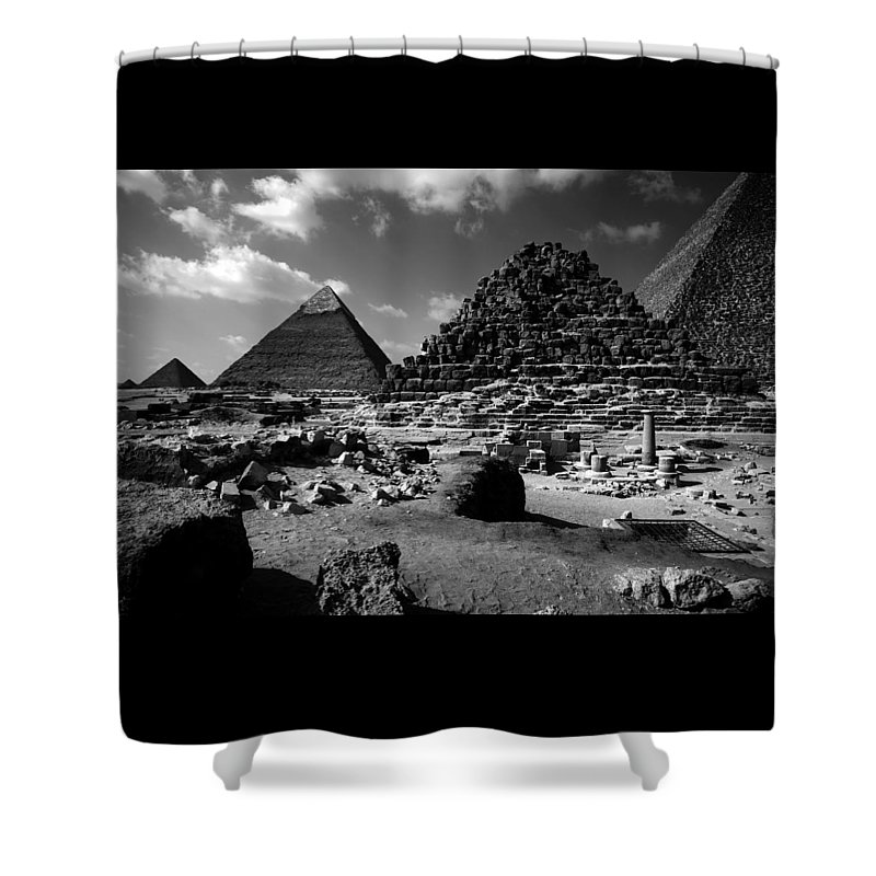 Pyramids Shower Curtain featuring the photograph Stair Stepped Pyramids by Donna Corless