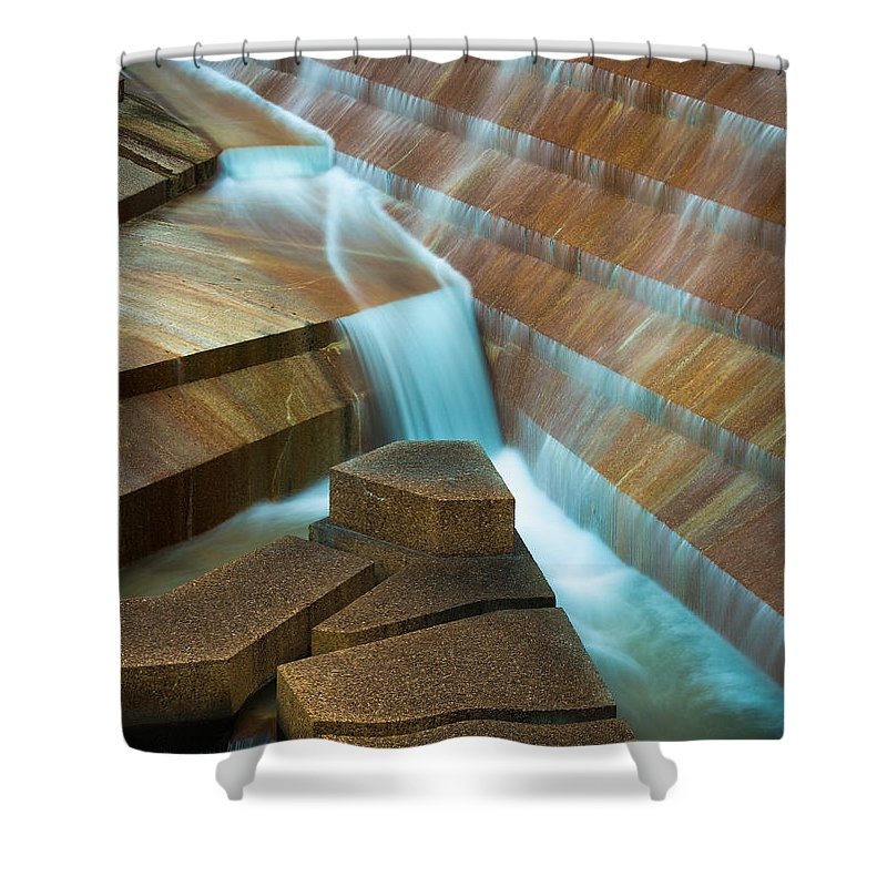 America Shower Curtain featuring the photograph Staircase Fountain by Inge Johnsson