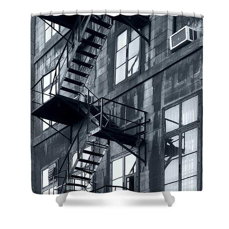 Canada Shower Curtain featuring the photograph Stairs by Pierre Logwin