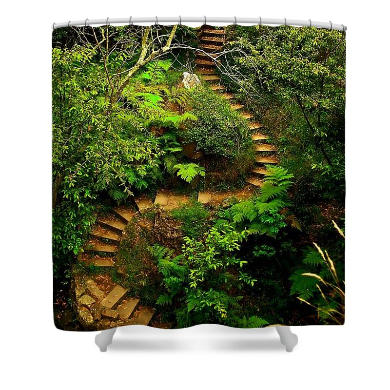Penrith Shower Curtain featuring the photograph Stairway To Heaven by Blair Stuart