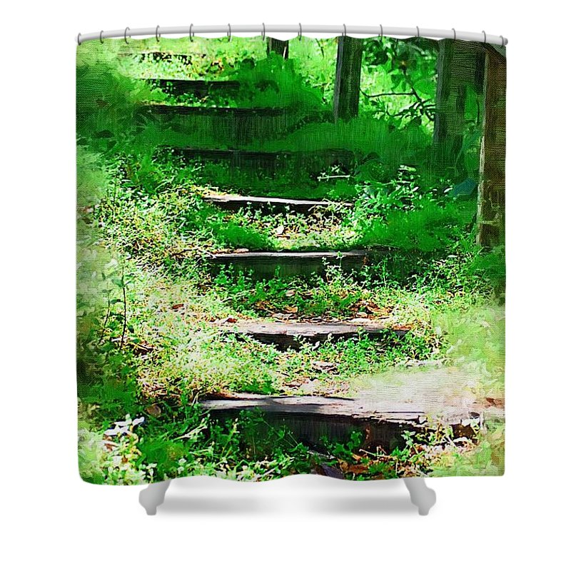 Stairs Shower Curtain featuring the photograph Stairway To Heaven by Donna Bentley