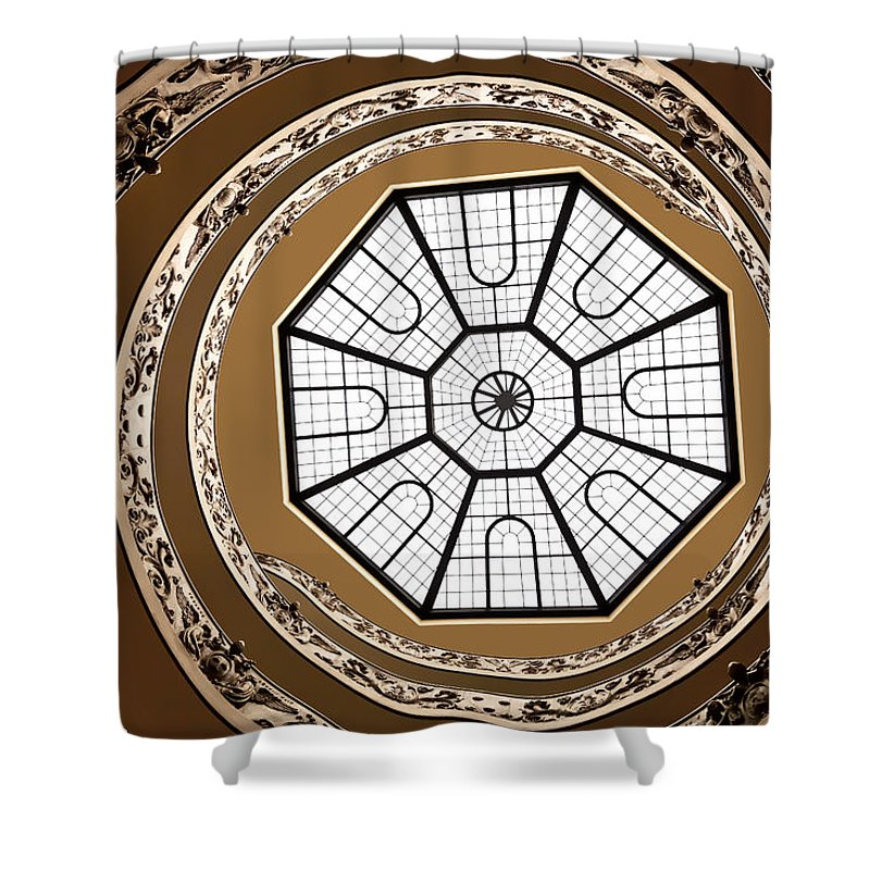 Vatican Museum Shower Curtain featuring the photograph Stairway To Heaven by Janet Fikar