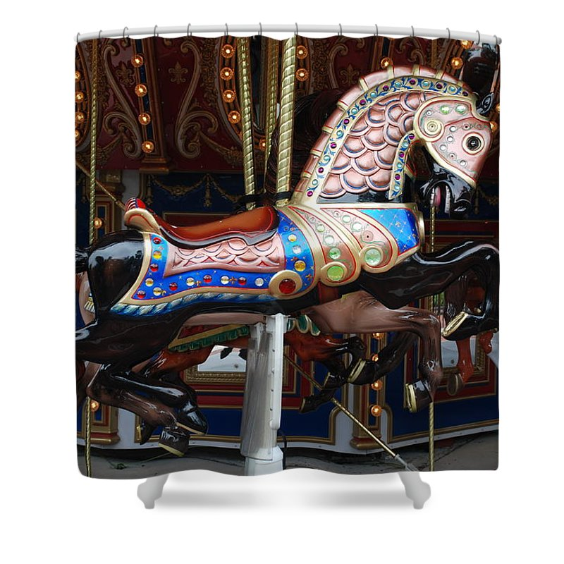Pop Art Shower Curtain featuring the photograph Stallion by Rob Hans