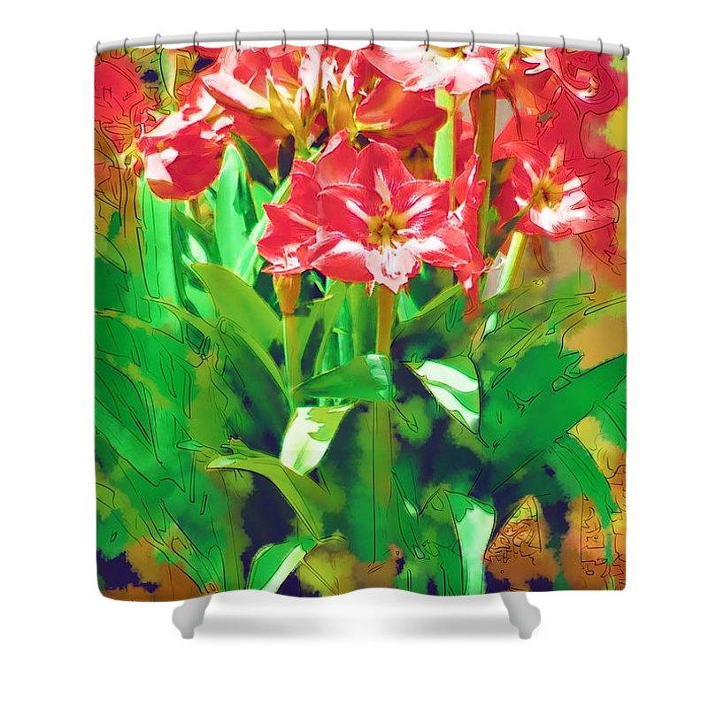 Flowers Shower Curtain featuring the photograph Standing At Attention by Donna Bentley