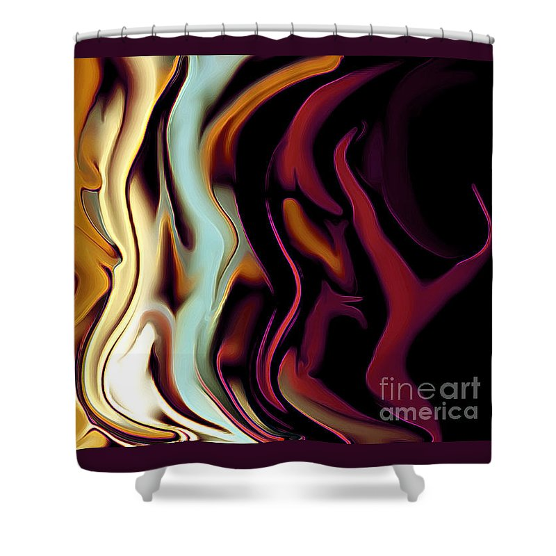 Abstract Shower Curtain featuring the photograph Standing In Line by Linda Parker