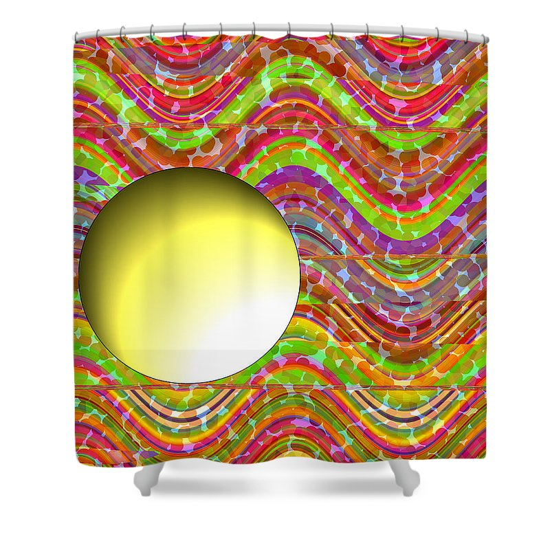 ruth Palmer Shower Curtain featuring the painting Standing Out From The Crowd by Ruth Palmer