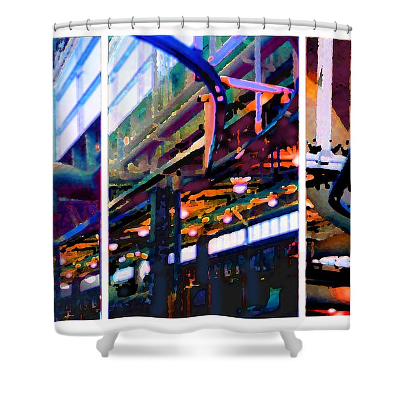 Abstract Shower Curtain featuring the photograph Star Factory by Steve Karol