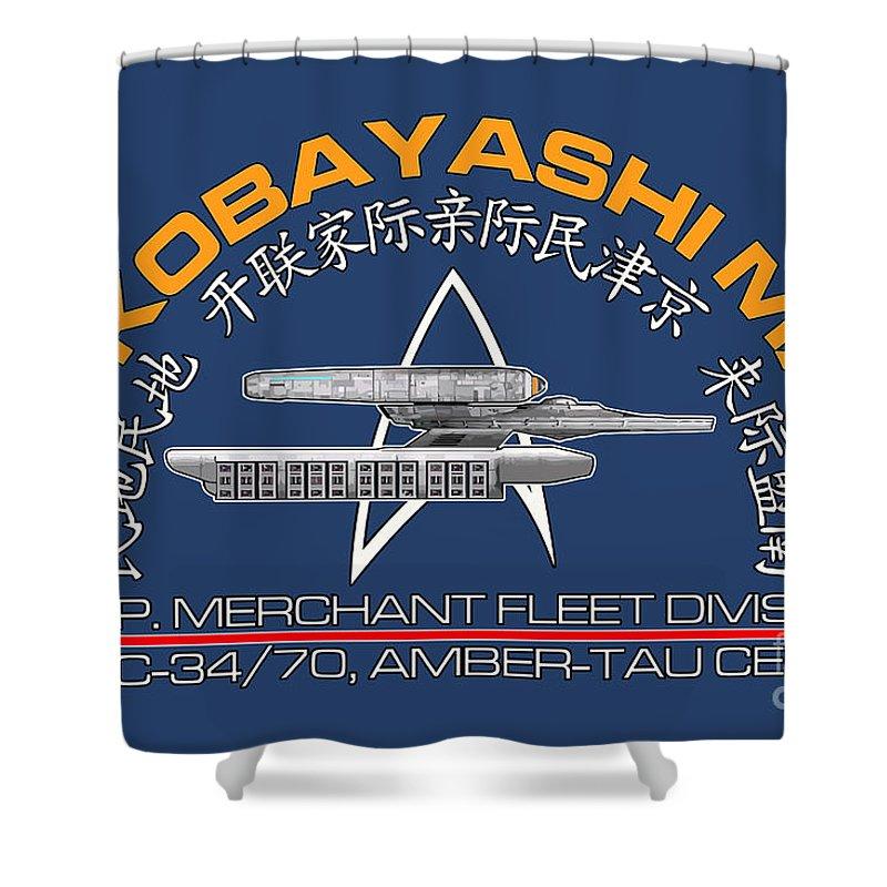 Star Trek Shower Curtain Featuring The Digital Art Star Trek   Kobayashi  Maru Crest By Luca