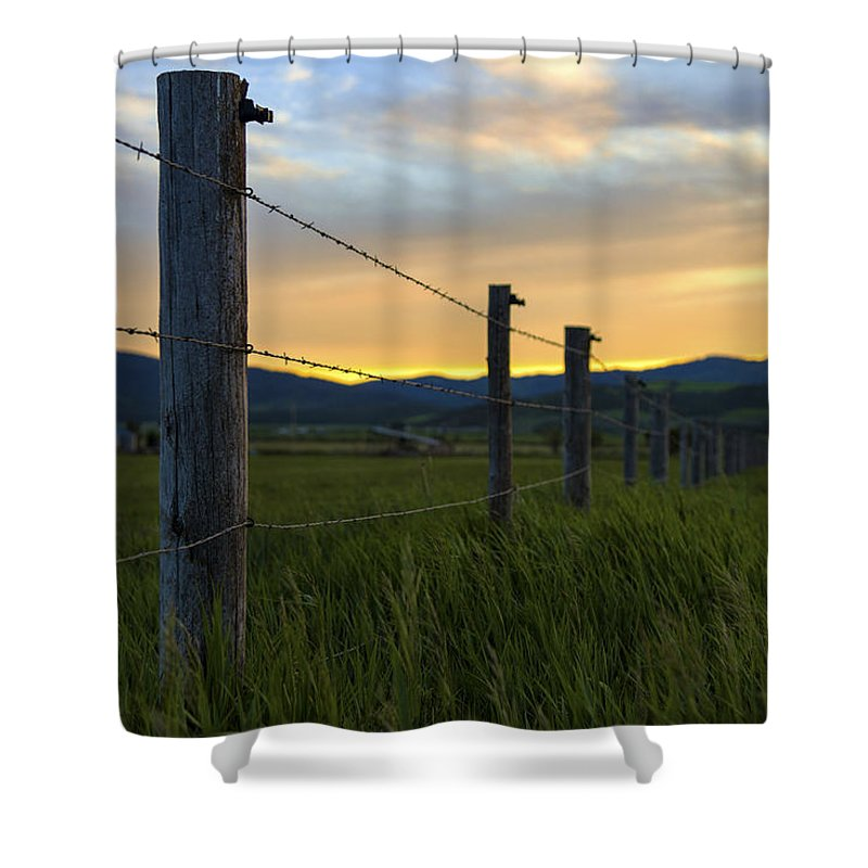 Star Valley Shower Curtain featuring the photograph Star Valley by Chad Dutson