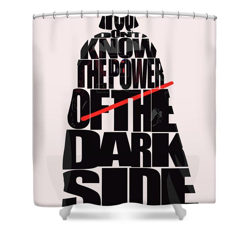 Star Wars Inspired Darth Vader Artwork Shower Curtain For Sale By Inspirowl Design