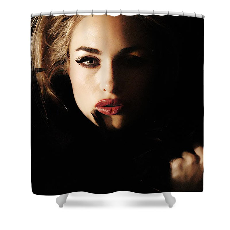 Clay Shower Curtain featuring the photograph Stare by Clayton Bruster
