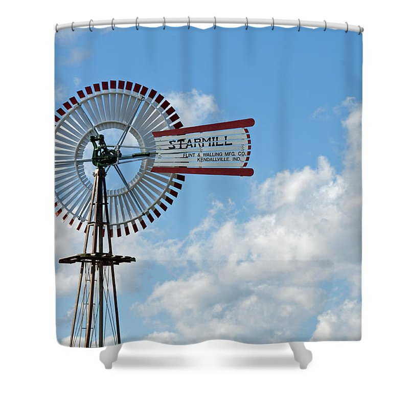 Windmill Shower Curtain featuring the photograph Starmill by David Arment