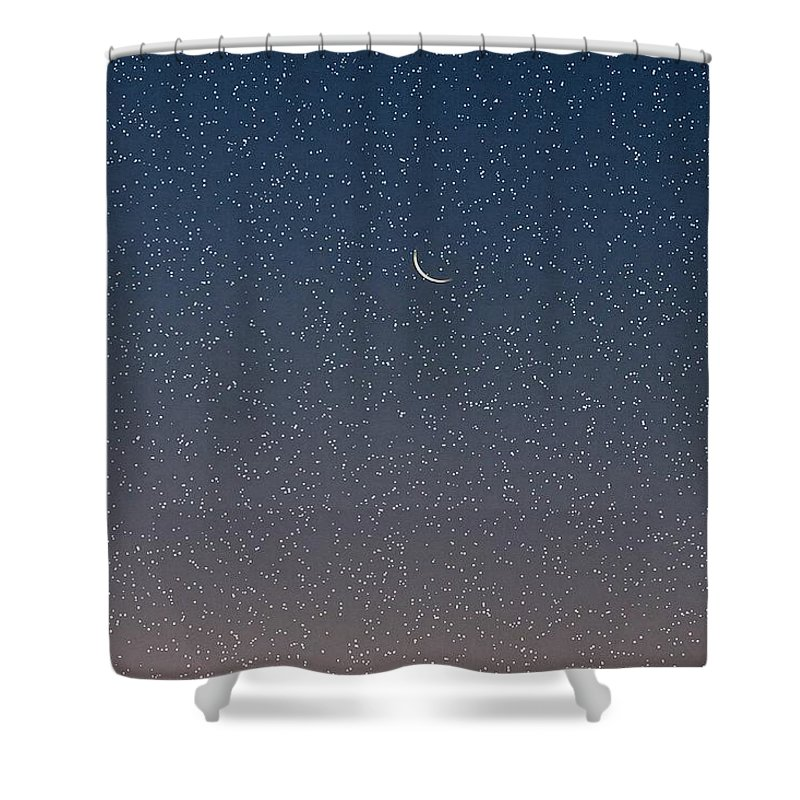 Shower Curtain featuring the photograph Starry Morning Sky by Luciana Seymour