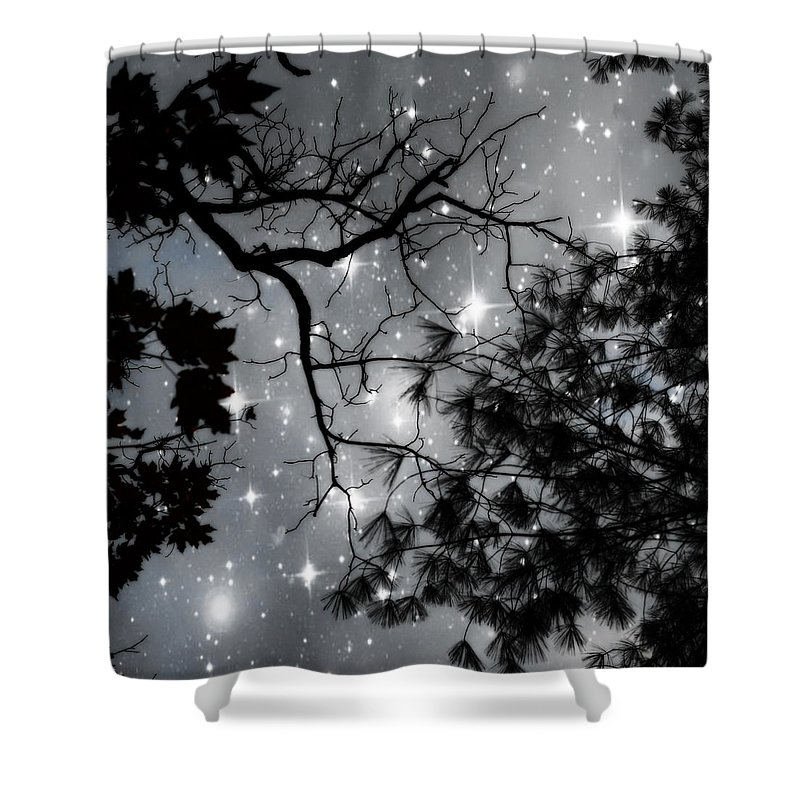 Starry Night Sky Shower Curtain Featuring The Photograph By Marianna Mills