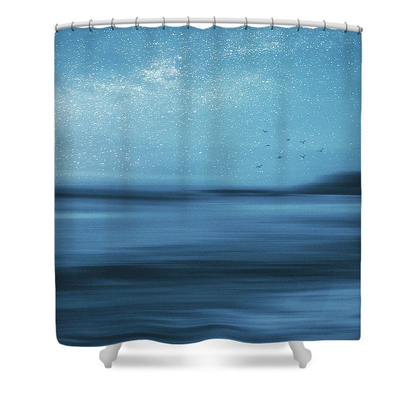Ocean Shower Curtain featuring the photograph Starry Starry Night by Angela King-Jones