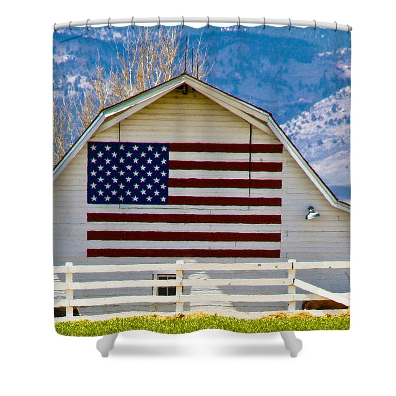 Barn Shower Curtain featuring the photograph Stars Stripes And Barns by Marilyn Hunt