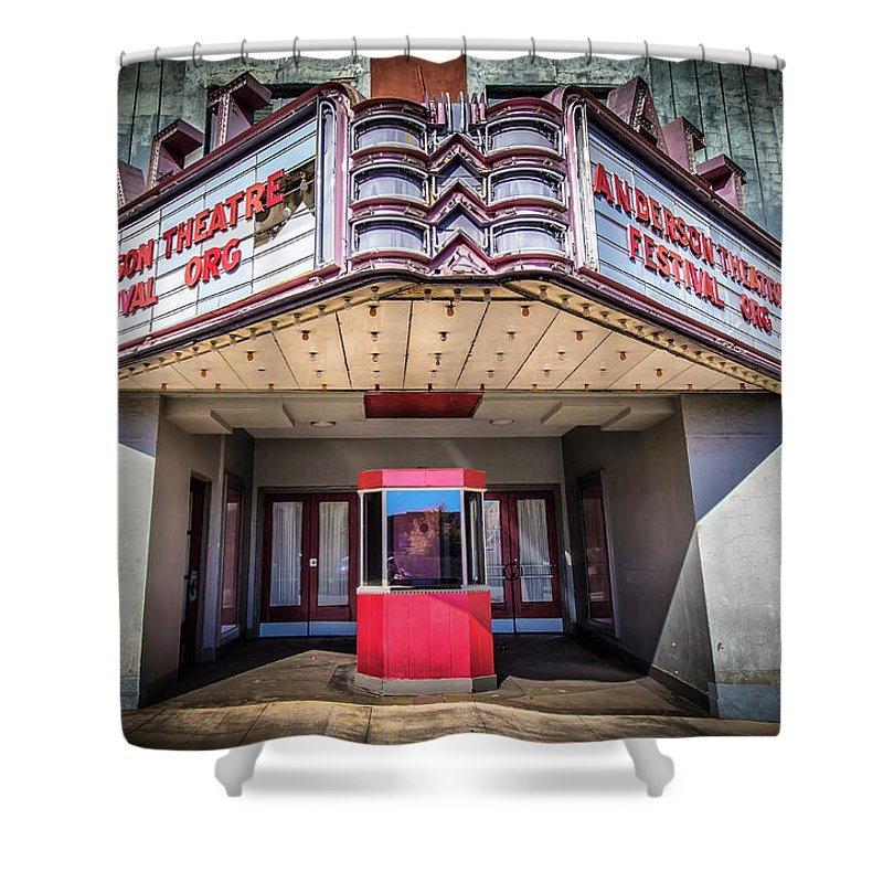 Movie Shower Curtain featuring the photograph State Theater by Lynne Jenkins