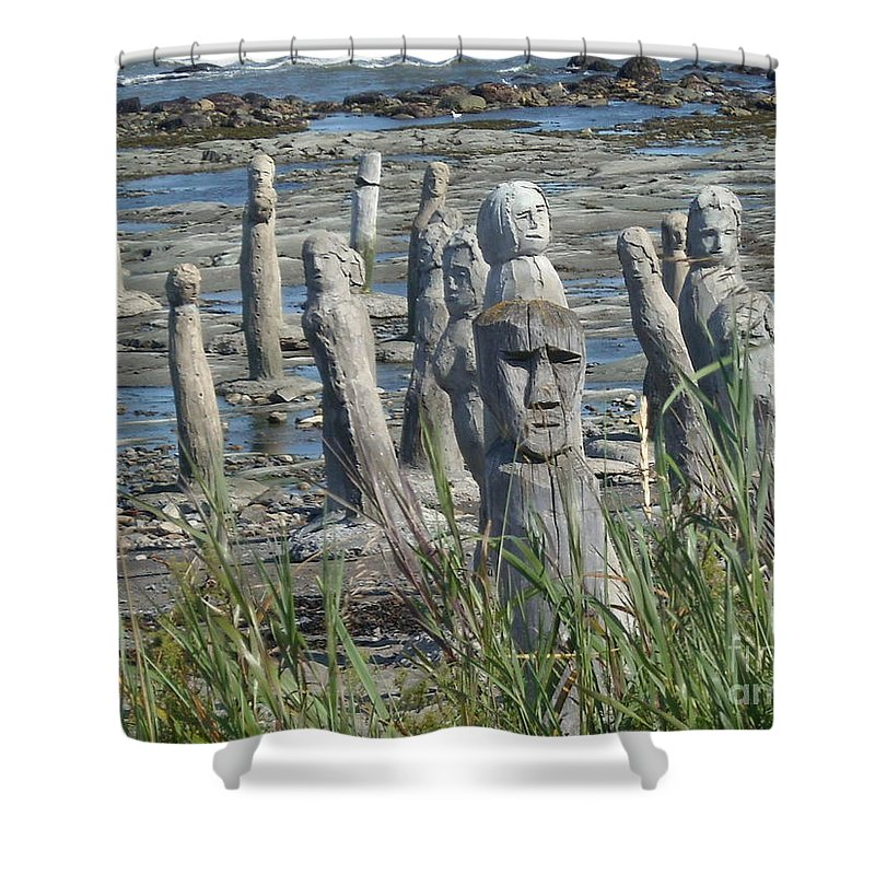 Landscape Shower Curtain featuring the photograph Ste Flavie by Line Gagne