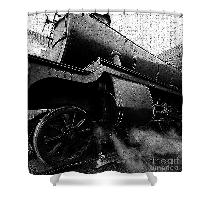 Steam Shower Curtain featuring the painting Steaming by David Lee Thompson