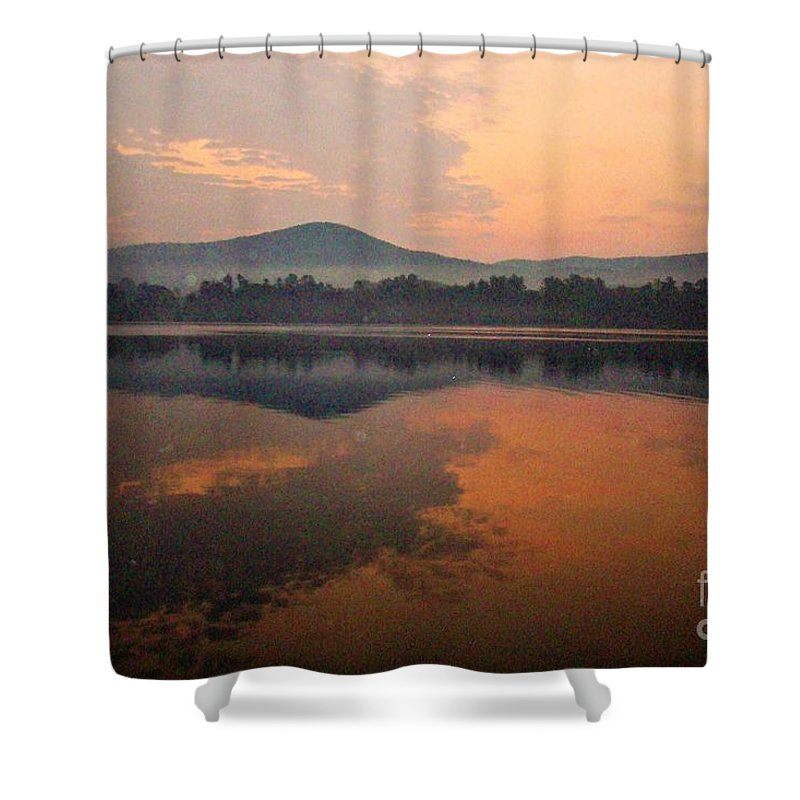 Lake St Catherine Vermont Shower Curtain featuring the photograph Steamy by Karen Velsor