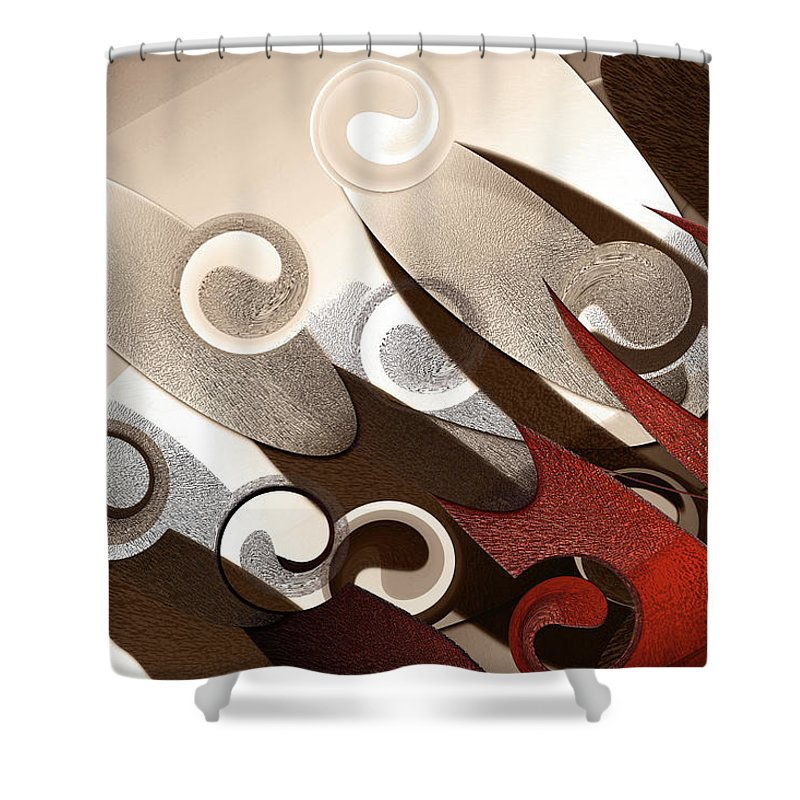 Abstract Shower Curtain featuring the digital art Steel 1 by Luciano Ricardo Lindner