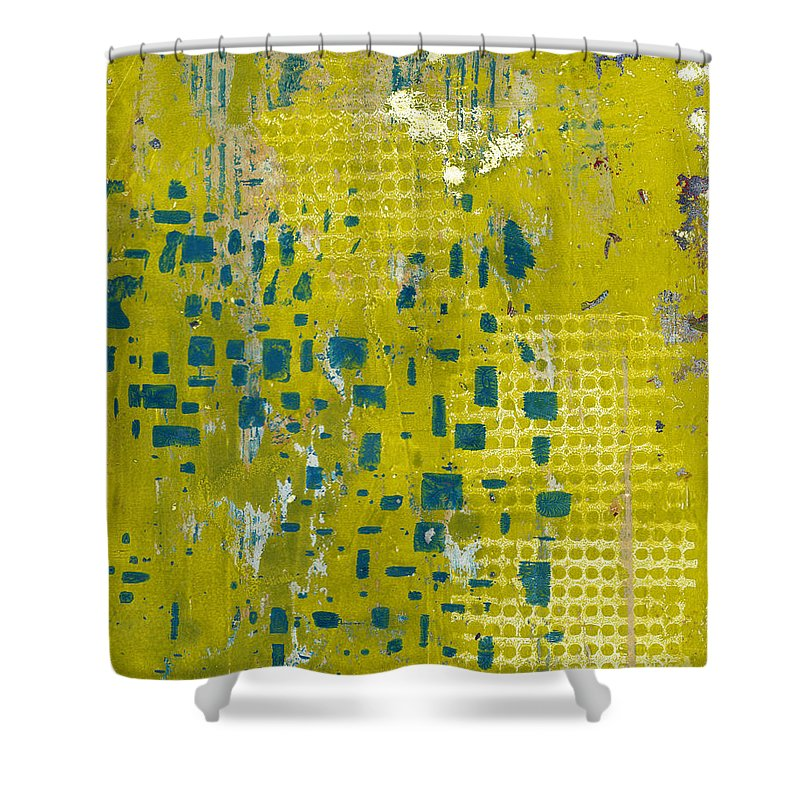 Abstract Shower Curtain featuring the painting Stepping Stones 2 by Laurel Englehardt
