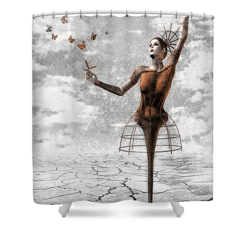 Surreal Shower Curtain featuring the painting Still Believe by Jacky Gerritsen