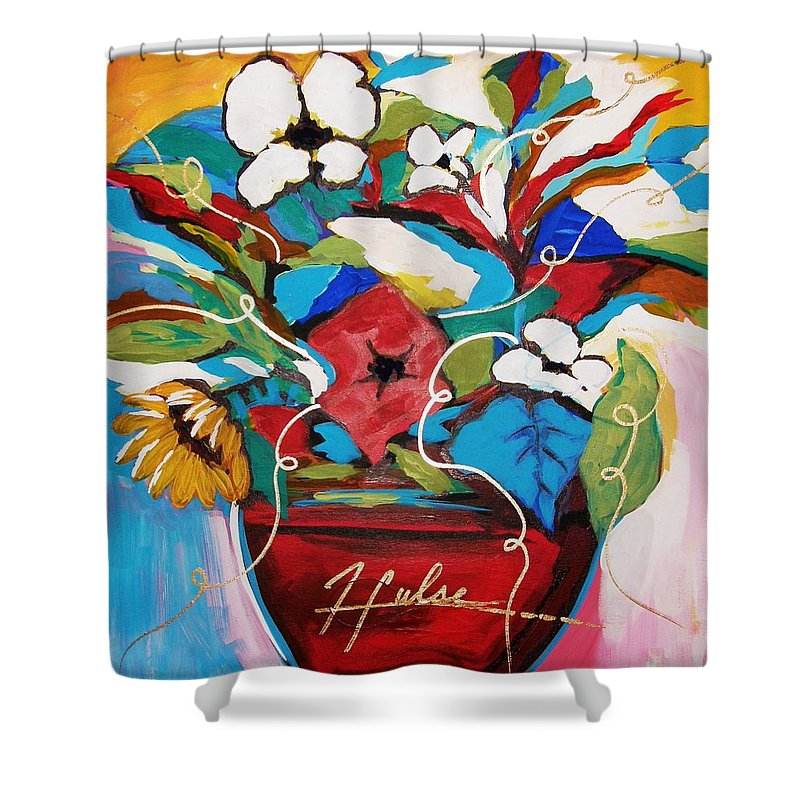 Floral Shower Curtain featuring the painting Still Dreaming Of Tuscany by Gina Hulse