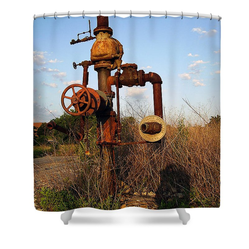 Pipes Shower Curtain featuring the photograph Still Here by Flavia Westerwelle