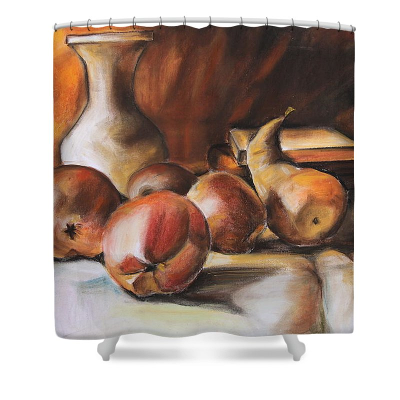Fruits Shower Curtain featuring the painting Still Life IIi by Janna May