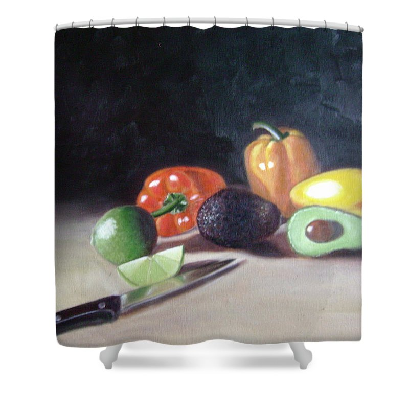 Shower Curtain featuring the painting Still-life by Toni Berry