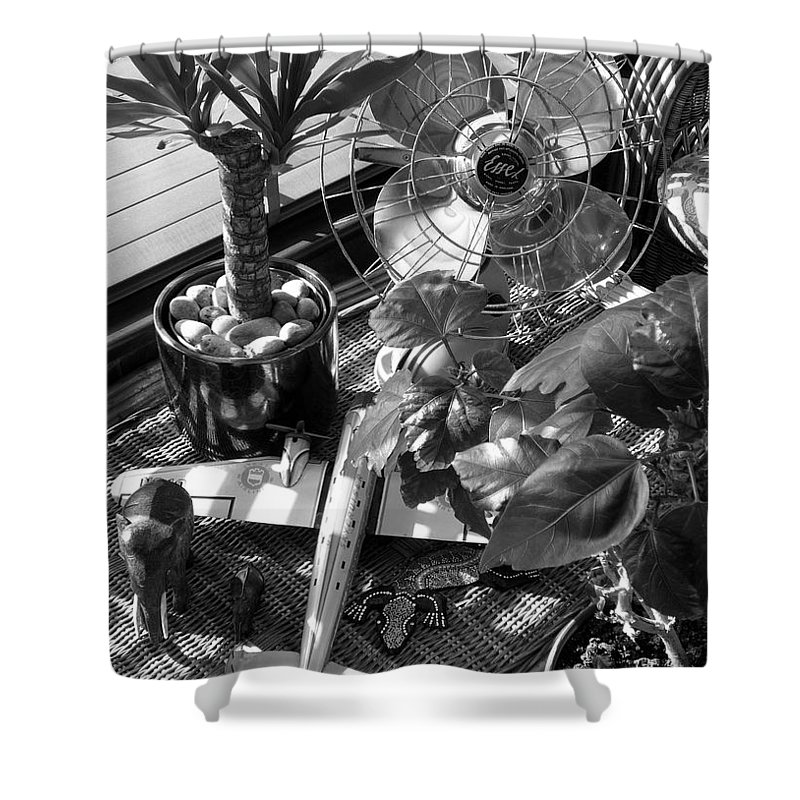 Still Life Shower Curtain featuring the photograph Still Life With Salamander by Charles Stuart
