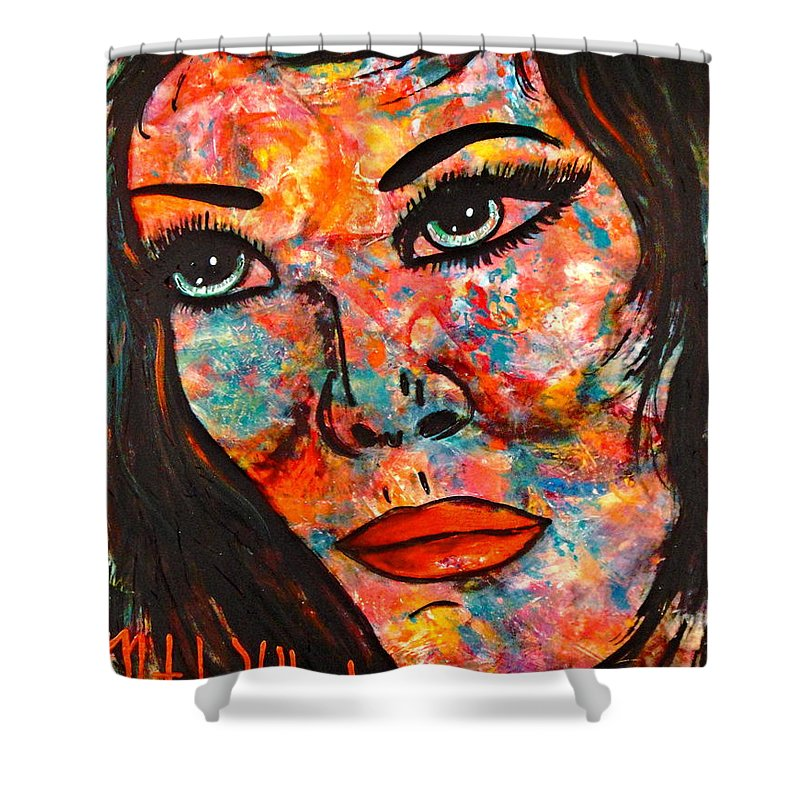 Expressionism Shower Curtain featuring the painting Still Searching by Natalie Holland
